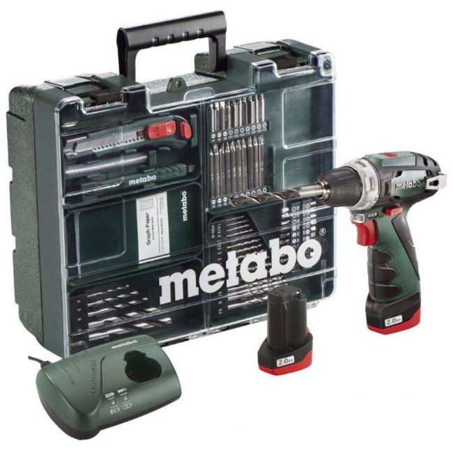 Perceuse visseuse 10,8V 2Ah + Set 64 accessoires - PowerMaxx BS Basic METABO