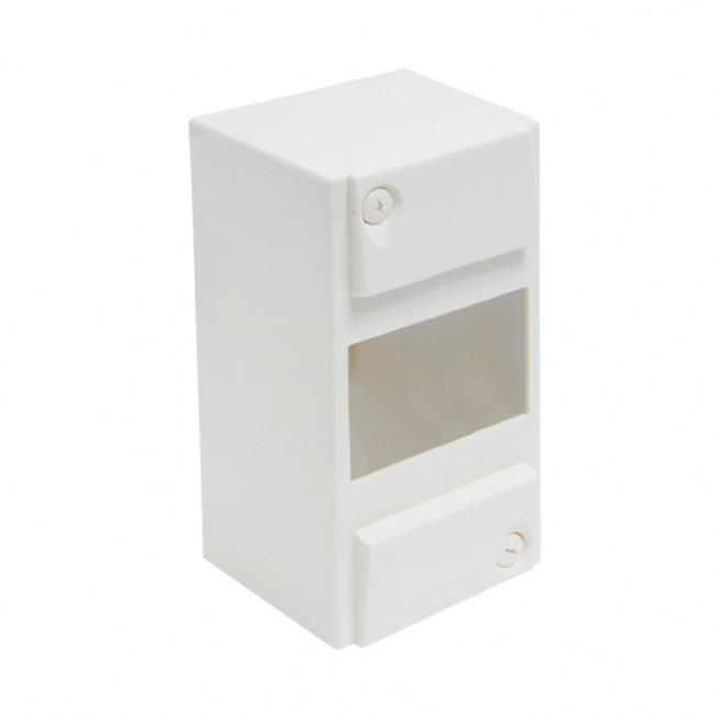 Coffret vide tableau électrique 1 rail - 1 à 8 modules - blanc DEBFLEX