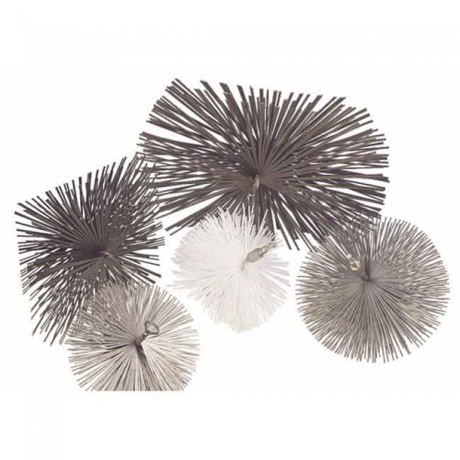 Hérisson de ramonage rond en nylon blanc - diamètre 150 mm