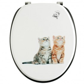 Abattant wc - sur cuvette standard - chatons Trendy Line WIRQUIN PRO