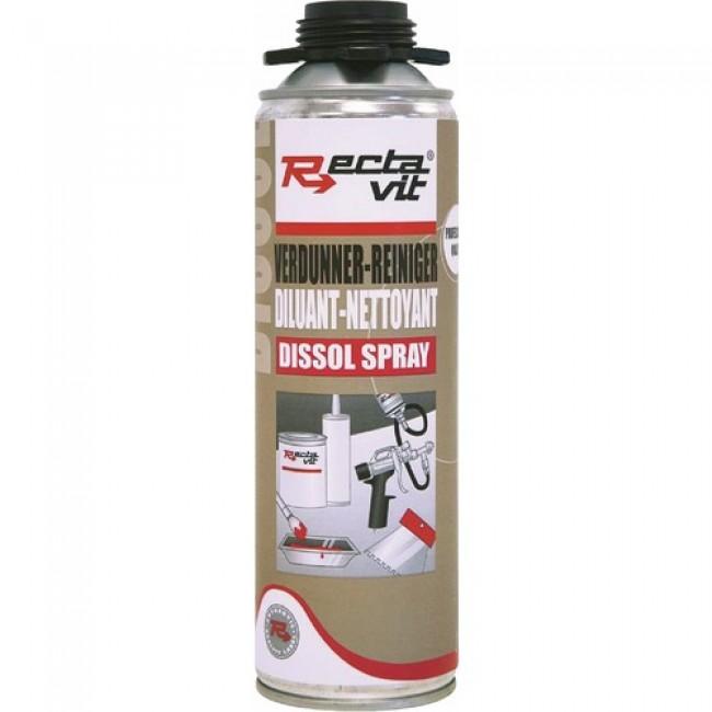 Diluant - dissolvant - nettoyant des résidus de collage - Dissol Spray RECTAVIT