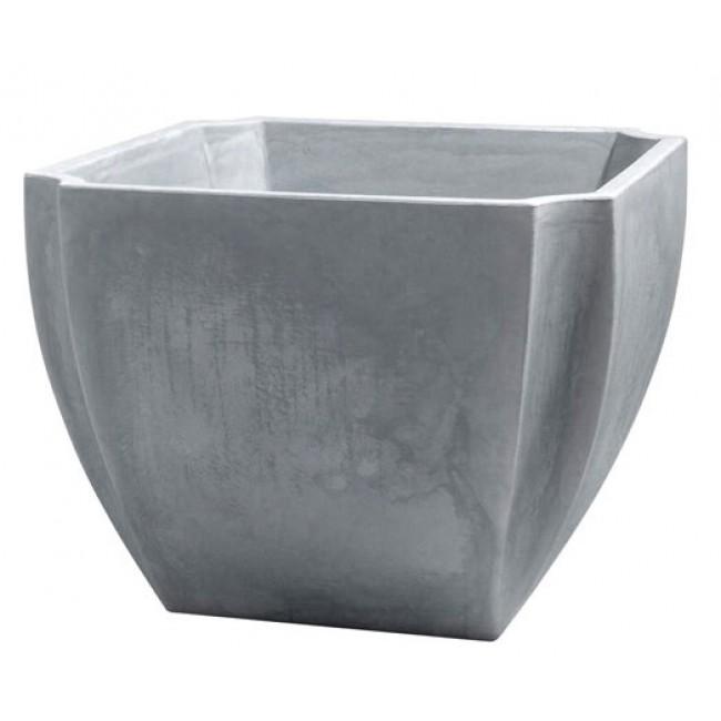 Bac à fleurs carré gris - 110 litres - Palmea 13901 EDA PLASTIQUES