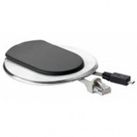 Point de connexion pour bureau : courant + chargeur USB + RJ45 blanc PLANET WATTOHM