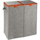 Panier à linge - Feutre gris - 2 compartiments - 82 L WENKO