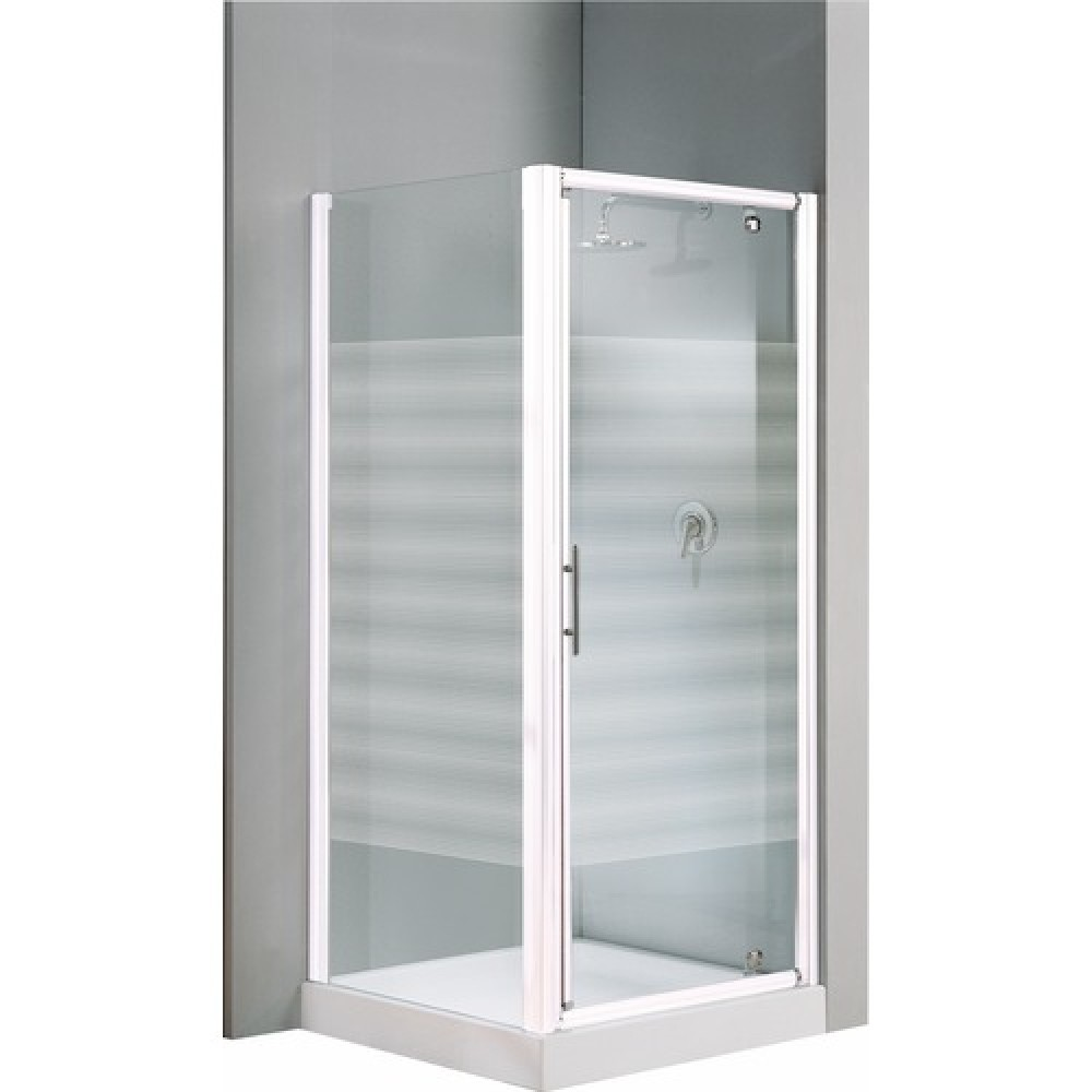 porte de douche pivotante verre transparent lunes g 84 90 cm bricozor. Black Bedroom Furniture Sets. Home Design Ideas