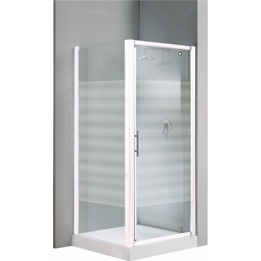 Porte de douche pivotante verre transparent lunes g 84 - Porte douche 90 cm ...