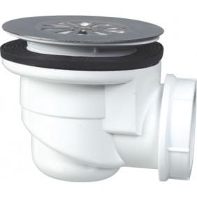 Bonde de douche à grille inox 60 mm pour receveur en grès NICOLL