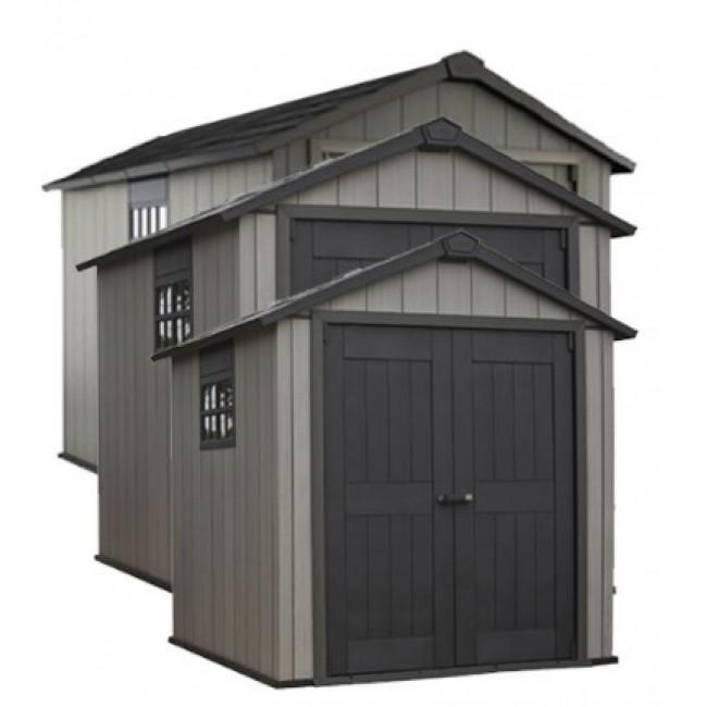 Abri de jardin en résine - 8 m² - Brossium 7511 gris KETER