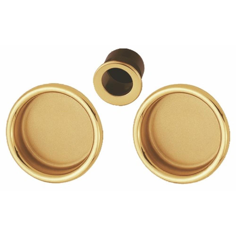 Poign es de porte coulissante cuvette m492 en laiton poli for Poignees de porte anciennes laiton