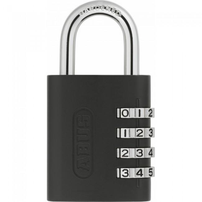 Cadenas à code - 4 molettes - renforcé -  clé passe - 158KC/45 AP050 ABUS