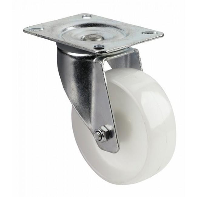 Roulette pivotante sur platine - bandage polypropylène - Port-Roll GUITEL