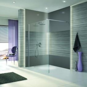 Paroi de douche à l'italienne Open 2 - verre transparent - 100 cm LEDA