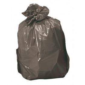 Sac poubelle - noir - à soufflets - 30 litres