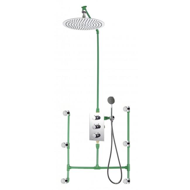Colonne de douche encastrable plafond MISY avec mitigeur PERRERO SARODIS