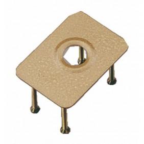 Contre-plaque de renfort - pour verrou à cylindre rond 23 mm - City ISEO