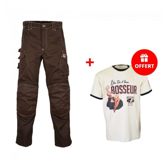 Pantalon HARPOON medium Ebène + T-shirt Edition limitée OFFERT BOSSEUR
