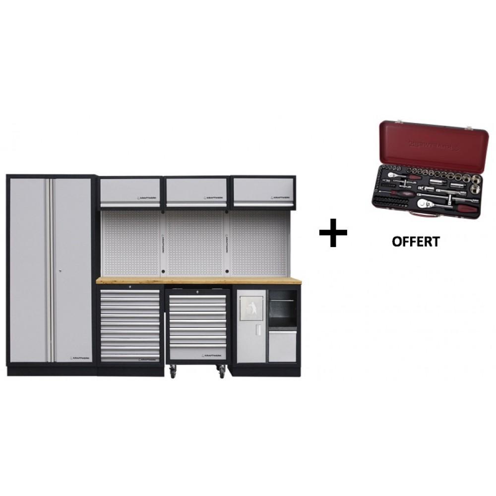 meuble d 39 atelier modulaire 4 l ments plan de travail au. Black Bedroom Furniture Sets. Home Design Ideas