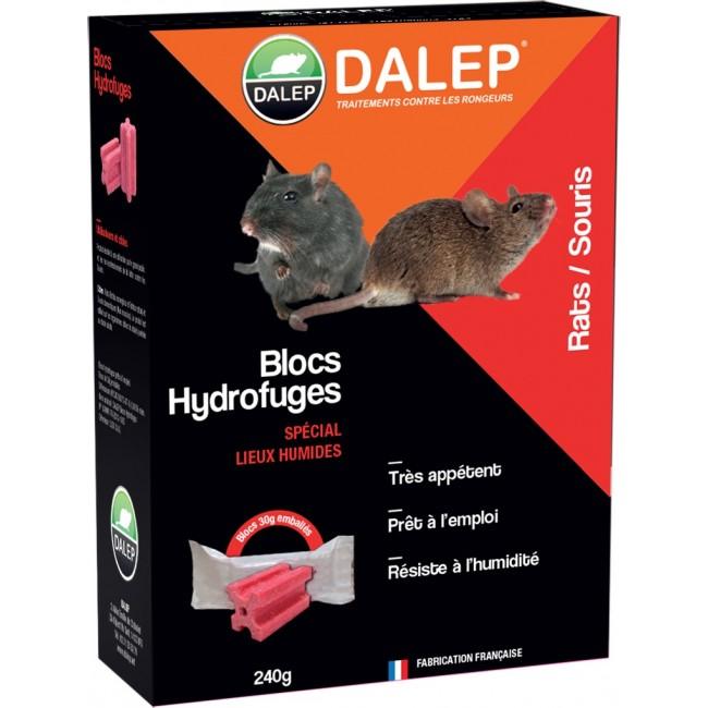 Raticide-souricide – en pâte – blocs hydrofuges – extérieur – 240 g DALEP