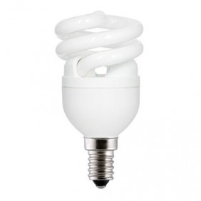 Lampe fluocompacte Spirale - culot à petite vis E14 GE LIGHTING