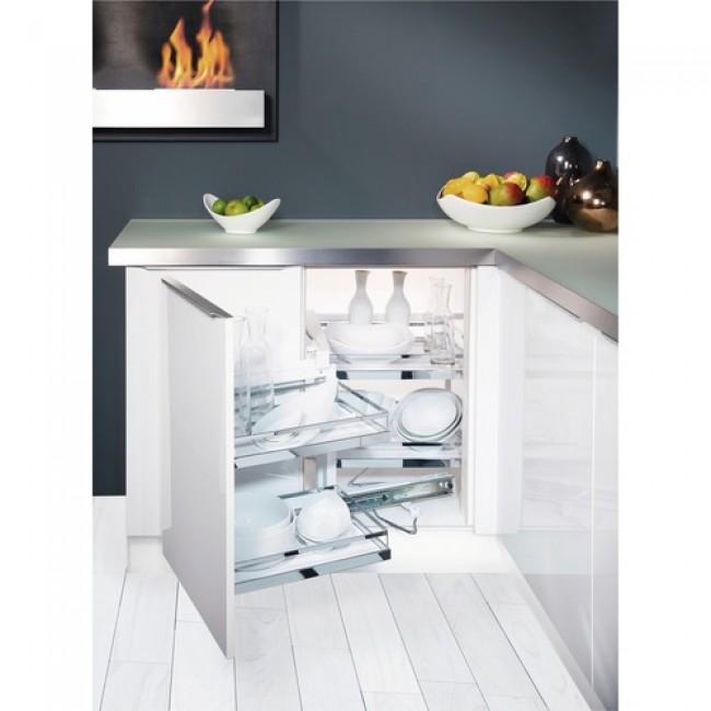 Plateaux pour meuble d 39 angle de cuisine magic corner for Meuble d angle cuisine but