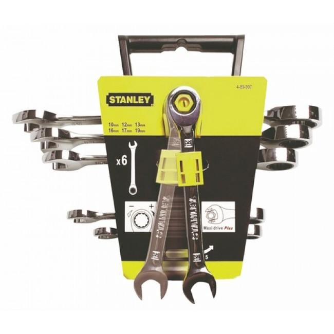Jeu de 6 clés mixtes à cliquet - 10 à 19 mm - Maxi-drive Plus STANLEY