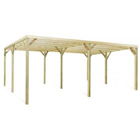 Carport en bois pour 2 voitures - 30 m2 - Monza Due JARDIPOLYS