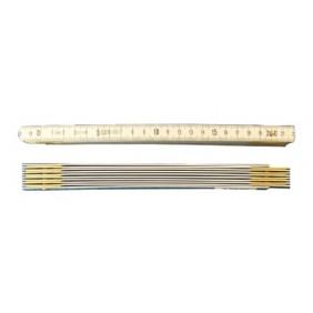 Mètre pliant - aluminium - longueur 1 ou 2 mètre WILMART