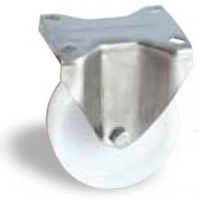 Roulette sur platine inox fixe - bandage polyamide AVL