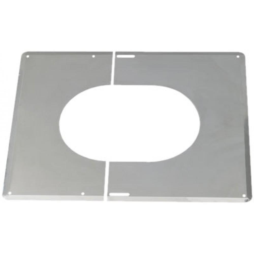 plaque de finition inox 30 45 diam tre 200 mm ten bricozor. Black Bedroom Furniture Sets. Home Design Ideas