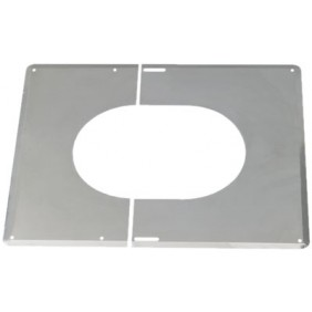 Plaque de finition inox 30° à 45° - diamètre 200 mm TEN