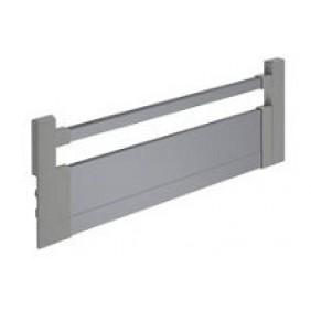Façade de tiroir à l'anglaise - hauteur 144 mm - argent HETTICH