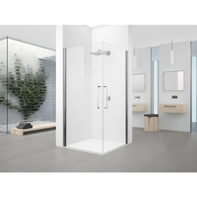 Paroi de douche fixe pivotante - verre transparent - Young 2.0 NOVELLINI