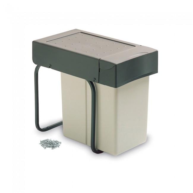 Poubelle de tri sélectif avec couvercle automatique - 1 bac de 20 litres EMUCA