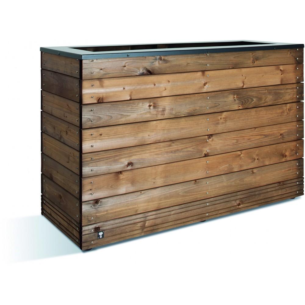 Jardini re en bois 179 litres 45 x 120 cm hauteur 74 - Jardiniere xxl ...