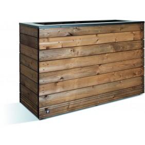 Jardinière en bois - 179 litres - 45 x 120 cm - hauteur 74 cm - Selekt JARDIPOLYS