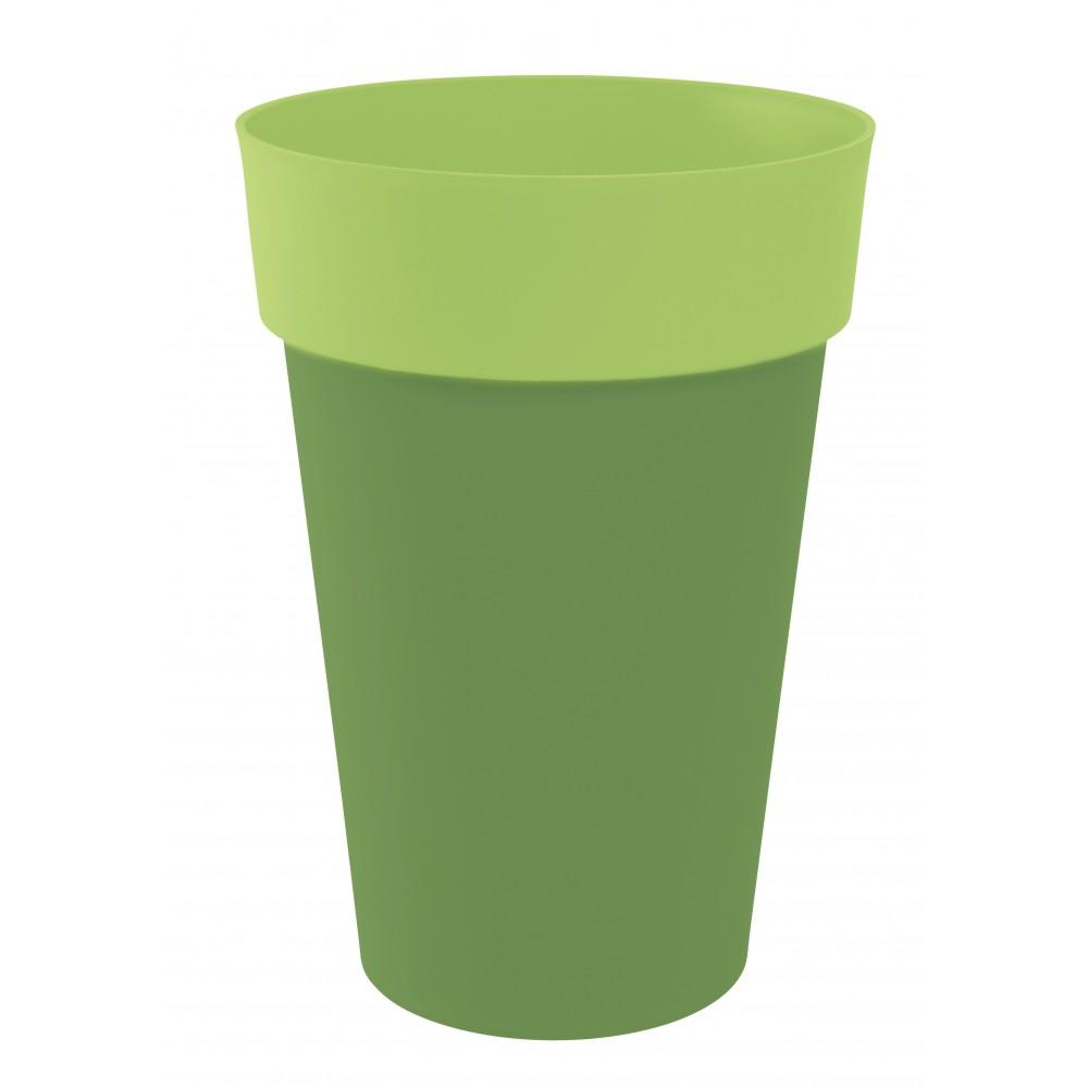 Pot rond bambou pistache 67 litres style 13687 eda for Bambou plastique