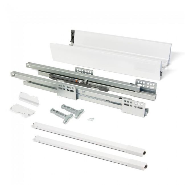 Kit tiroir casserolier Vantage-Q-hauteur 141mm-blanc EMUCA