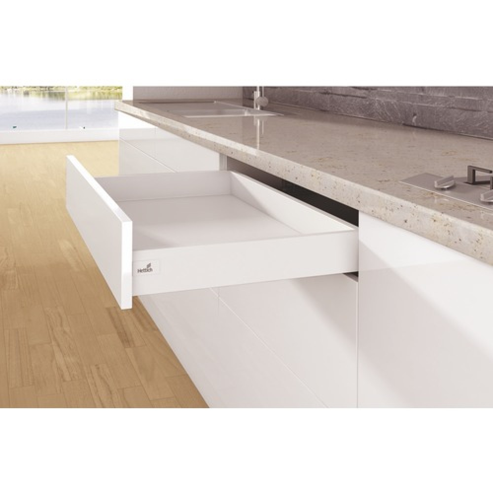 kit tiroir simple arcitech profil hauteur 94 mm blanc hettich bricozor. Black Bedroom Furniture Sets. Home Design Ideas