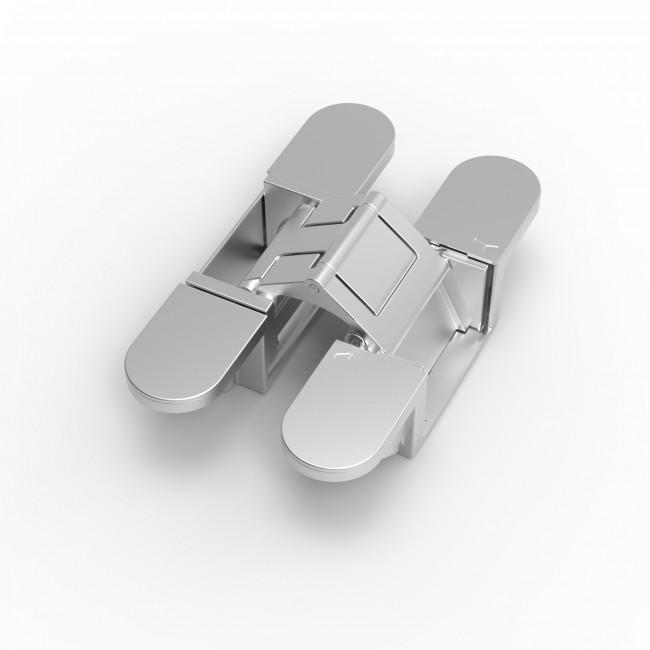 Paumelle  invisible pour porte - cadre en saillie - EXO XC-10 ARGENTA