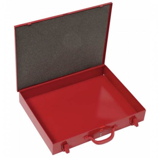 Boîte de rangement métallique - poignée valise - cadenassable