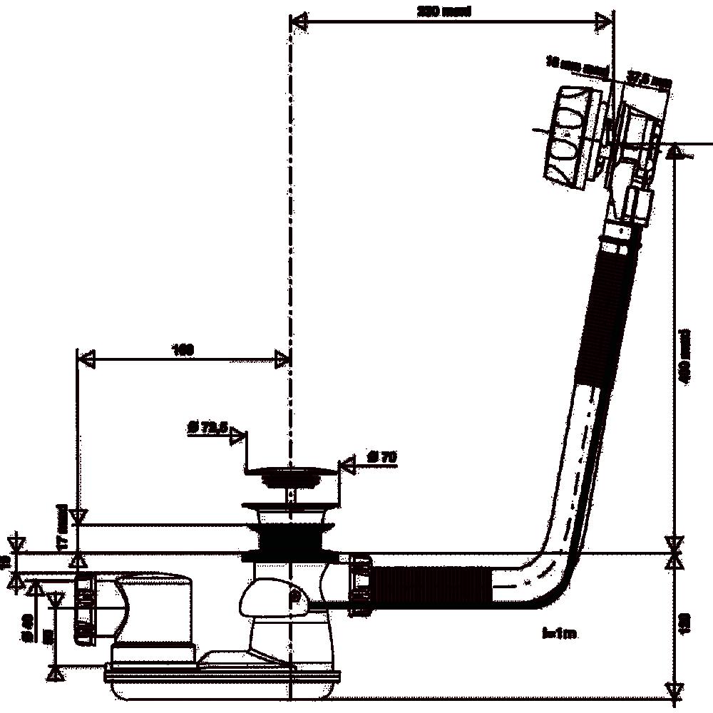 Vidage De Baignoire A Cable Clapet En Laiton 1 M Valentin Bricozor