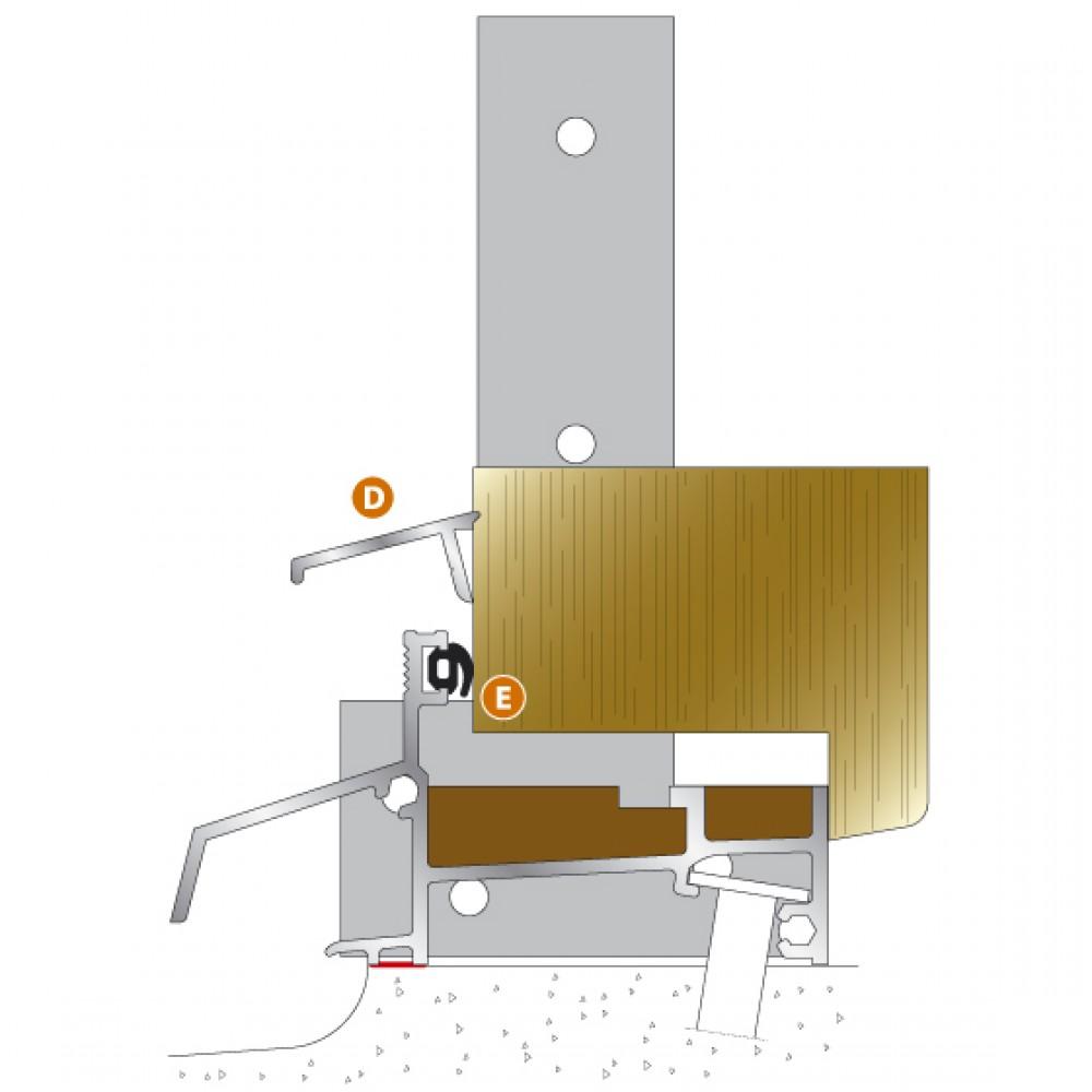 Seuil En Aluminium Axl Pour Porte Fenêtre Bois Bilcocq Bricozor