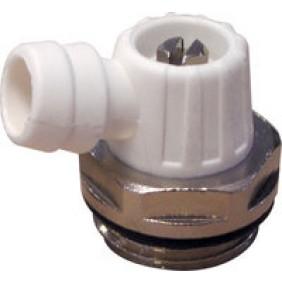 Robinet de vidange orientable pour radiateur - mâle 15x21 RIQUIER