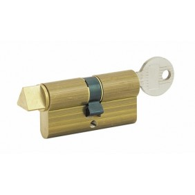 Cylindre double - à clef et triangle pompier 14 mm COUILLET
