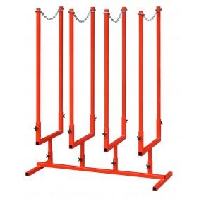 Chevalet de sciage multi-bûches - tube acier carré - 43x110x130 cm OUTIFRANCE