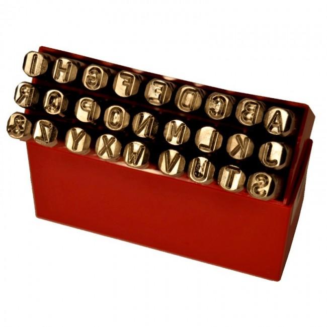 Alphabets à frapper à gauche - 3, 5, 8 et 10 mm BRICOZOR