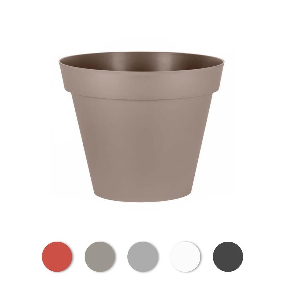 Pot Plastique Grande Taille pot rond - diamètre 80 cm - 170 litres - toscane 13623 eda plastiques sur  bricozor