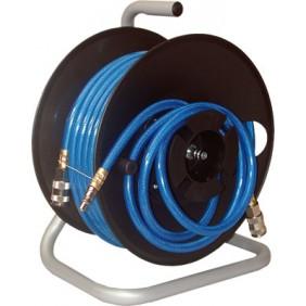 Enrouleur pneumatique manuel + 20 m de tuyau air comprimé Lacmé
