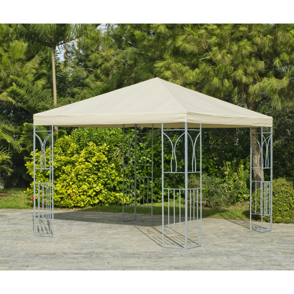 Tonnelle de jardin 400x300 cm en acier cerdena 400 cru indoor outdoor bricozor Tonnelle de jardin destockage