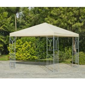 Tonnelle de jardin 400x300 cm en acier CERDENA 400 écru INDOOR OUTDOOR